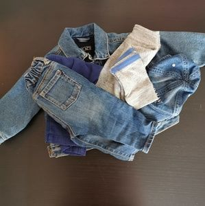 Baby boy bundle. Gift with purchase. Size 6-24M